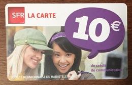 RÉUNION FILLES RECHARGE GSM SFR 10 EURO DU 03/14 CARTE PRÉPAYÉE PHONECARD CARD PAS TÉLÉCARTE - Reunion