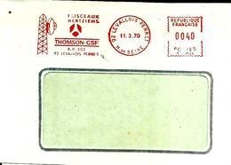 Lettre  EMA  Havas T 1970 Thomson Csf   Faisceaux Hertziens Usine 92 Levallois Perret  C19/21 - Poststempel (Briefe)