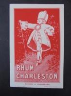 BUVARD - RHUM CHARLESTON - Buvards, Protège-cahiers Illustrés