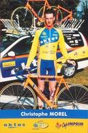 Postcard Christophe Morel  -  Saint Quentin - Oktos  -  2001 - Ciclismo