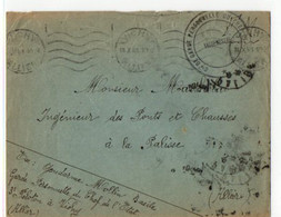 A  14 10 1941 Lettre FM Cachet Compagnie De Garde Personnelle Du Chef De L'état - Marcophilie (Lettres)