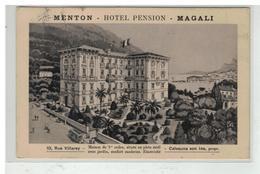 06 MENTON HOTEL PENSION MAGALI RUE VILLAREY CALVAUNA VON INS PROP. - Menton
