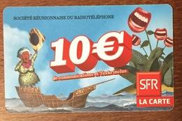 RÉUNION NAVIRE RECHARGE GSM SFR 10 EURO DU 10/11 CARTE PRÉPAYÉE PHONECARD CARD PAS TÉLÉCARTE - Réunion