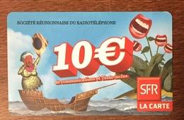 RÉUNION NAVIRE RECHARGE GSM SFR 10 EURO DU 06/11 CARTE PRÉPAYÉE PHONECARD CARD PAS TÉLÉCARTE - Réunion