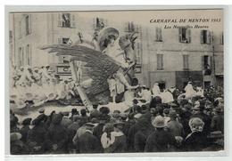 06 MENTON CARNAVAL 1913 LES NOUVELLES HEURES CHAR - Menton