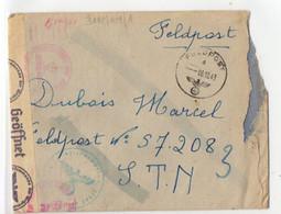 A 06 10 1943 Lettre En Feldpost Organisation Todt En Allemagne Avec Courrier  Détection Encre - Guerra Del 1939-45