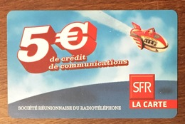 RÉUNION NAVIRE RECHARGE GSM SFR 5 EURO DU 06/11 CARTE PRÉPAYÉE PHONECARD CARD PAS TÉLÉCARTE - Réunion