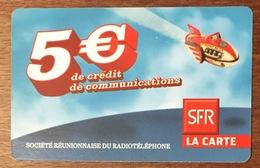 RÉUNION NAVIRE RECHARGE GSM SFR 5 EURO DU 09/11 CARTE PRÉPAYÉE PHONECARD CARD PAS TÉLÉCARTE - Réunion