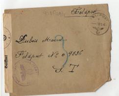 A .. 11 1945 Lettre En Feldpost Organisation Todt En Allemagne Avec Courrier - Guerra Del 1939-45