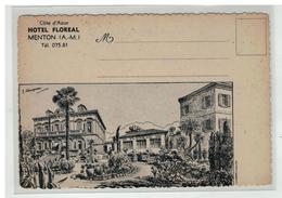 06 MENTON HOTEL FLOREAL PAR ILLUSTRATEUR CAMPEAU - Menton