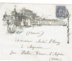 CTN61/C - BELGIQUE DEVANT DE LETTRE PUBLICITAIRE - 1893-1900 Barba Corta