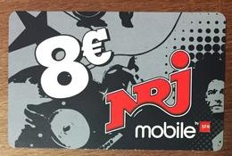 RÉUNION NRJ RECHARGE GSM SFR 8 EURO DU 12/10 CARTE PRÉPAYÉE PHONECARD CARD PAS TÉLÉCARTE - Réunion
