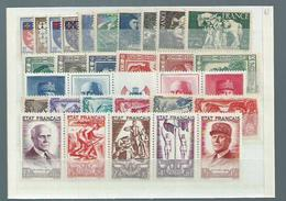 France Année Complète 1943** Luxe Cote 162€ - France