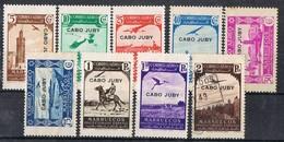 Sellos Varios Serie CABO JUBY Aereo, Colonia Española 1938, Avion Y Aves, Edifil Num 102-111 */º - Cape Juby