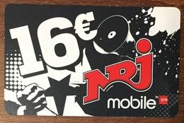 RÉUNION NRJ RECHARGE GSM SFR 16 EURO DU 12/10 CARTE PRÉPAYÉE PHONECARD CARD PREPAID PAS TÉLÉCARTE - Réunion