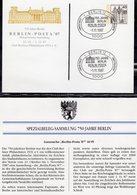 750 Jahre Berlin 1987 Bln.EXPO P121 SST 5€ Sonder-Postkarte Ausstellung POSTA'87 Schloß Architectur Card Of Germany - [5] Berlin