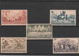 LIECHTENSTEIN **LUXE N° 177/181  Y & T 2012 COTE 30.00 - Unused Stamps