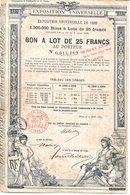 PARIS - Exposition Universelle De 1889 - Bon à Lot De 25 Francs Au Porteur - SUP - Turismo
