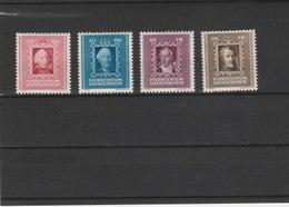 LIECHTENSTEIN **LUXE N° 182/185  Y & T 2012 COTE 15.00 - Unused Stamps