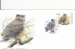 Selos  Temas 2 Fdc  Aves -Rapina -Belgica - Timbres