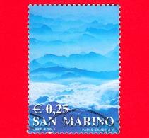SAN MARINO - Usato - 2002 - Colori Della Vita - Paesaggio Montano (azzurro) - 0.25 - Oblitérés
