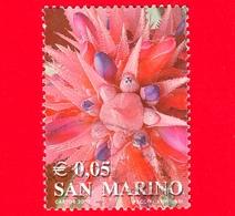 SAN MARINO - Usato - 2002 - Colori Della Vita - Pianta Grassa (rosso) - Succulent - 0.05 - Oblitérés