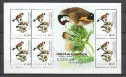 Guyana - MNH Sheet BIRDPEX ANTWERP 2010 - EUROPEAN GOLDFINCH - Otros