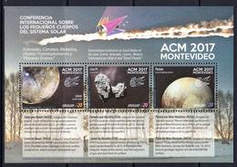 2017 Uruguay ACM Astronomy Comets Meteors  Souvenir Sheet MNH - Uruguay
