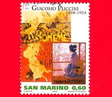 SAN MARINO - Usato - 2008 - Artisti - Giacomo Puccini - 0.60 - Oblitérés