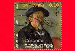 SAN MARINO - Usato - 2011 - Storie Di Pittura In Francia - Cézanne, Autoritratto Con Berretto - 0.10 - Saint-Marin