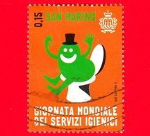 SAN MARINO - Usato - 2015 - Giornata Mondiale Dei Servizi Igienici - Sagome - World Day Of Toilets - 0.15 - Saint-Marin