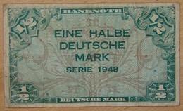 Allemagne - 1/2 Deutsche Mark - Série 1948 . Bundesrepublik Deutschland - [ 5] Ocupación De Los Aliados