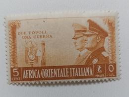 FRANCOBOLLO NUOVO AFRICA ORIENTALE ITALIANA 1941 CENT.5 SASSONE 3-34 - Africa Orientale Italiana