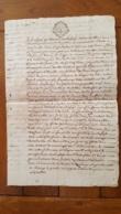 GENERALITE  MONTPELLIER TESTAMENT GUILLAUME MALAFOSSE TUILIER DE BEZIERS MANUSCRIT 1776  AVEC CACHETS CIRE TROIS SOLS - Matasellos Generales