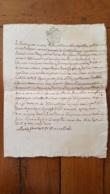 GENERALITE  MONTPELLIER TESTAMENT MARIE FRANCOISE DE VALLOIS DE BEZIERS MANUSCRIT 1782  AVEC CACHETS CIRE - Matasellos Generales