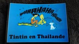 CPM LES AVENTURES DE TINTIN TINTIN EN THAILANDE MASSAGE DOULOUREUX  HUMOUR ED AMARA PUBLISHING FORMAT 18 PAR 12.5 CM - Bandes Dessinées