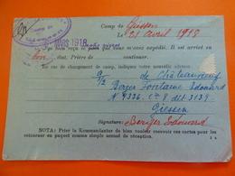 Lot De Documents Prisonnier De Guerre, CICR, Vivres, BERGER-FONTAINE Edouard, 258e RI, PG à Malancourt - Aramon