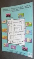 Carte Postale - ALS SIDA (labyrinthe) Lyon - Sauras-tu Retrouver Le Bon Chemin (verso : Comment Utiliser Un Préservatif) - Pubblicitari