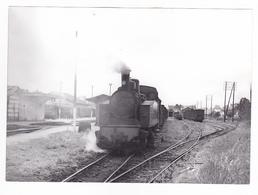 29 Rosporden Vers Concarneau Quimper PHOTO Train Locomotive Vapeur Le 13 Juillet 1953 VOIR DOS - Treinen