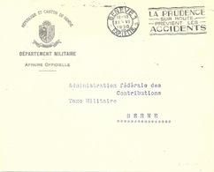 """Motiv Brief  """"Département Militaire, Rép. Et Canton De Genève""""           1930 - Switzerland"""