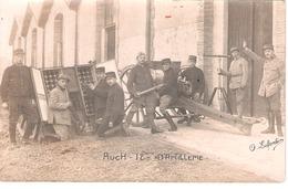Carte Photo Militaire - 12e D'artillerie Auch - Manœuvre Pièce De 75 - 1914-18