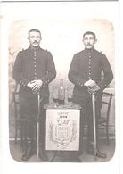 Carte Photo Militaire - 2 Cavaliers Du 5e Cuirassiers - Classe 1904 - 1914-18