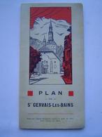 DEPLIANT - PLAN 1940 : AGENCE MAUDAMEZ  / SAINT GERVAIS LES BAINS ( HAUTE SAVOIE ) - Dépliants Touristiques