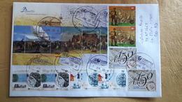 Enveloppe Argentine Diffusée Avec Bloc Et Timbres Expositions Philatéliques Et Autres - Argentina