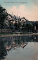 Kurhaus Friedewald, Lössnitzgrund. Bahnpost, 1909. - Radebeul