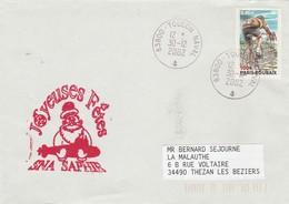 Sous Marin SNA SAPHIR Joyeuses Fêtes Toulon Naval 30/12/2002 - Storia Postale