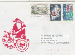 CMT ANDROMEDE  Joyeux Noël 2001 Brest Naval 36/12/2001 - Marcophilie (Lettres)