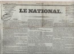 LE NATIONAL 22 02 1831 - POLOGNE - ESPAGNE GIBRALTAR - PIEMONT - MALDEGEM - BELGIQUE - COMPLOTS CARLISTES CADOUDAL ETC - - Journaux - Quotidiens