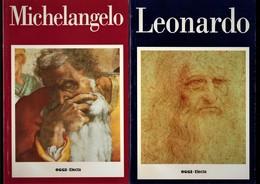 5 VOLUMI ARTE MICHELANGELO,LEONARDO,CARAVAGGIO,VAN GOGH,GOYA - Art, Design, Décoration