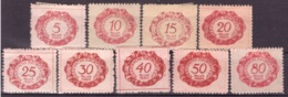 Liechtenstein 1920 - MH * - Chiffres - Timbres-taxe Michel Nr. 1-9 (lie980) - Segnatasse
